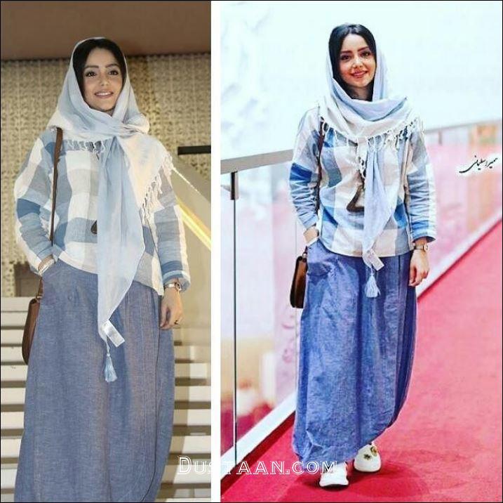 لباس عجیب نازنین بیاتی در مراسم فیلم مادری