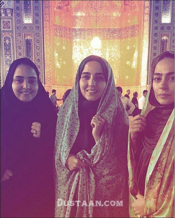 www.dustaan.com نرگس محمدی و خواهرش سارا در حرم مطهر رضوی +عکس