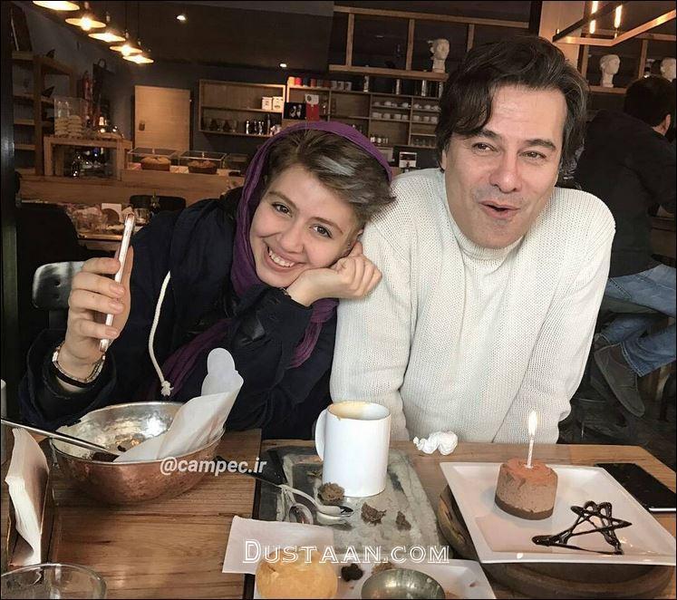 www.dustaan.com پیمان قاسم خانی و دخترش پریا در یک قاب +عکس