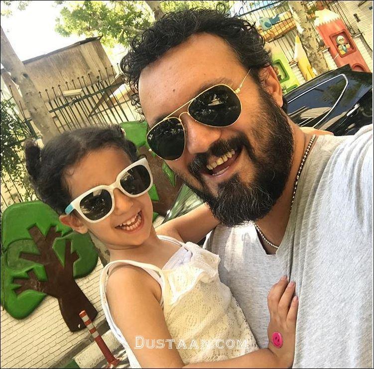 www.dustaan.com سلفی زیبای کامبیز دیرباز با دخترش نیاز