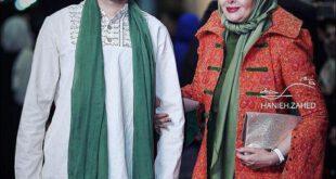 تیپ دیدنی کتایون ریاحی و پسرش جشن حافظ +عکس