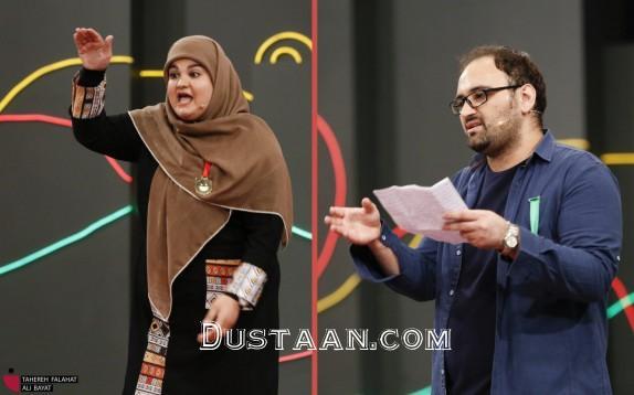 www.dustaan.com وقتی آزاده نامداری در خندوانه سوژه می شود! +عکس