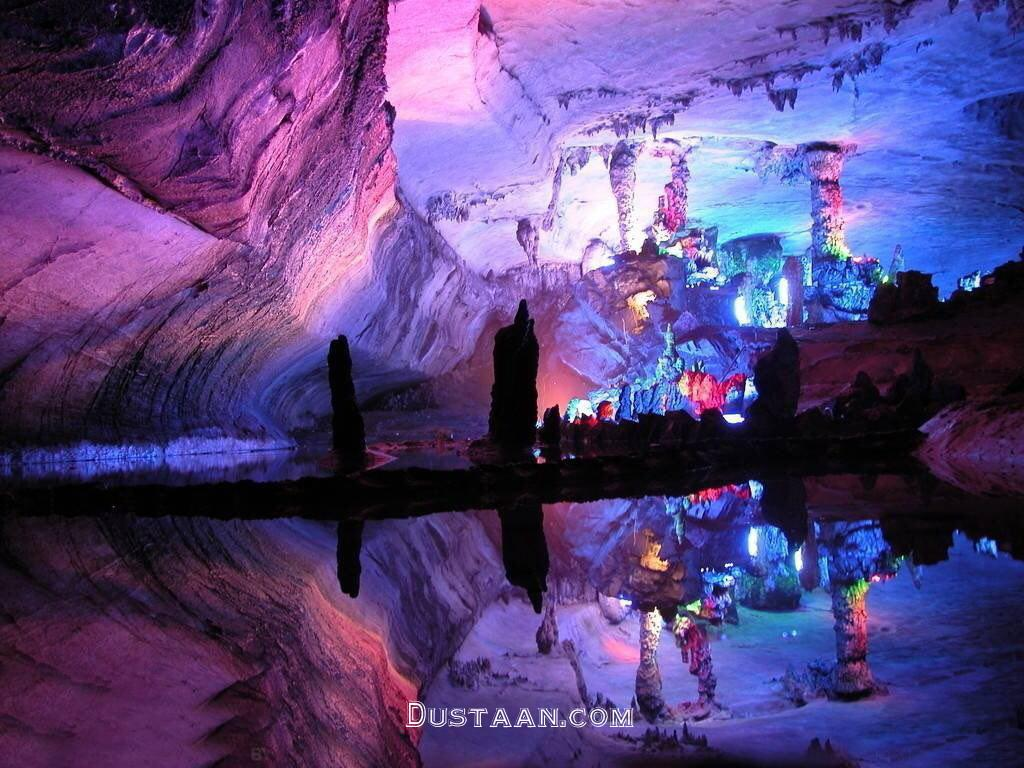 www.dustaan.com تصویری زیبا از رنگی ترین غار جهان