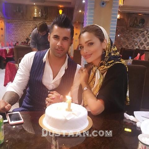 www.dustaan.com اولین سالگرد ازدواج محسن فروزان و همسرش نسیم نهالی