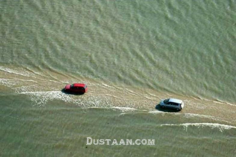 www.dustaan.com جاده ای که در روز ۲ بار ناپدید می شود! +تصاویر