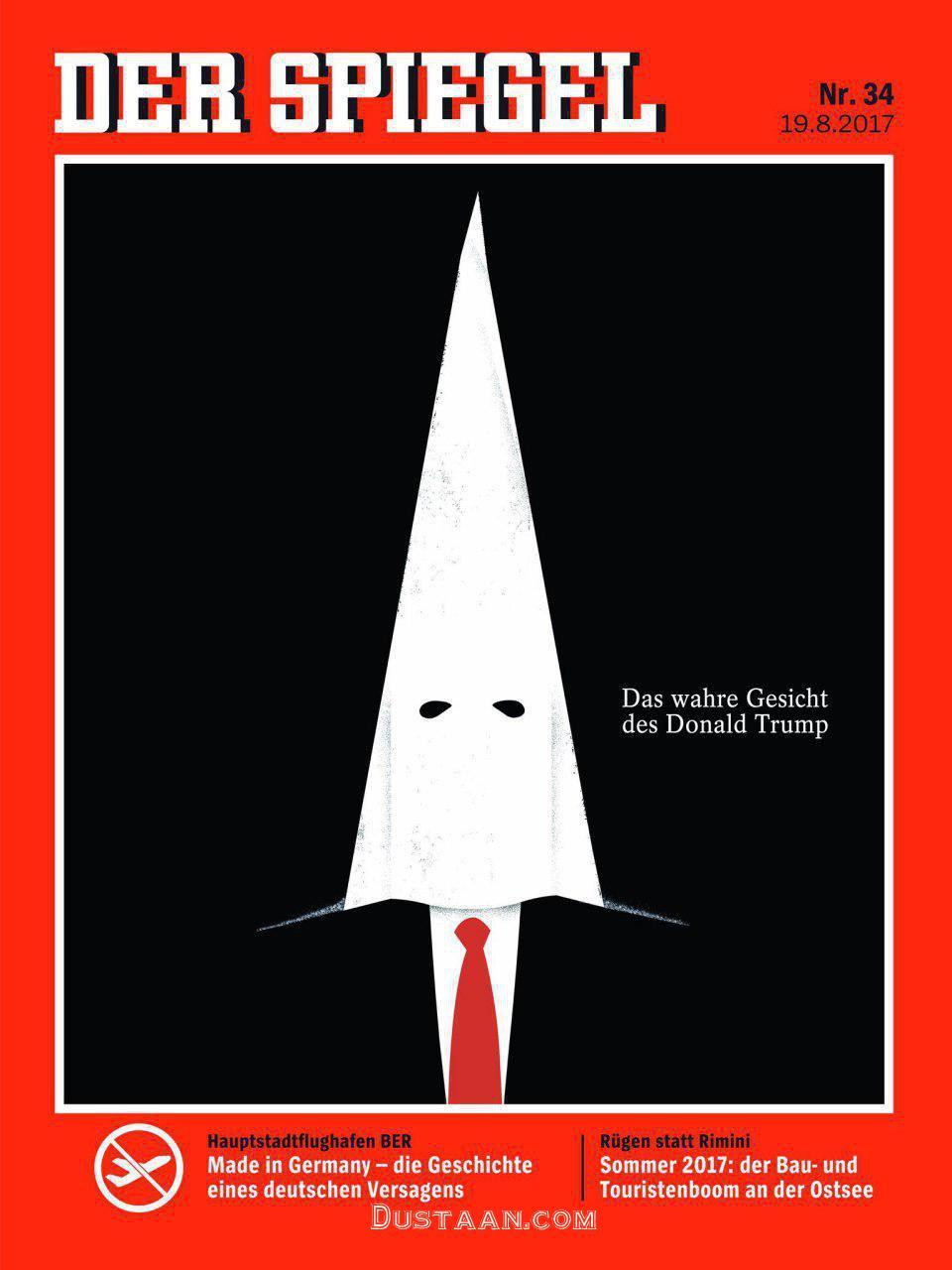 www.dustaan.com چهره واقعی ترامپ روی جلد یک نشریه
