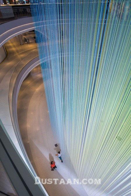 www.dustaan.com رنگین کمانی از 13 هزار نخ در بزرگترین مرکز خرید آمریکا