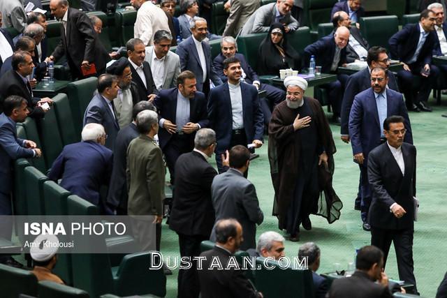 www.dustaan.com حسن روحانی وارد مجلس شد