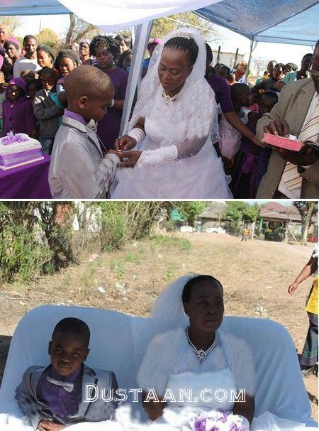 www.dustaan.com ازدواج زن ۶۱ ساله با پسر ۱۰ ساله! +عکس