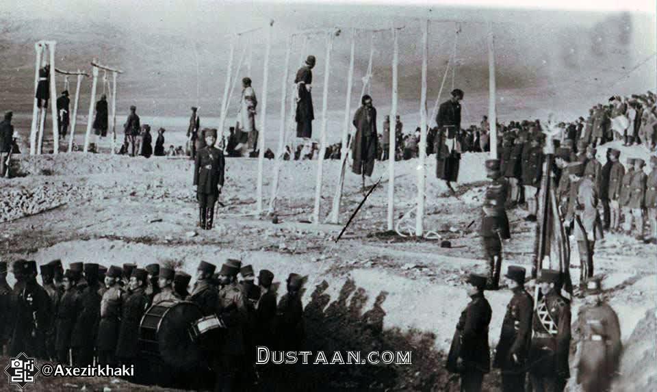 www.dustaan.com اعدام راهزنان نهاوند در عصر پهلوی اول +عکس