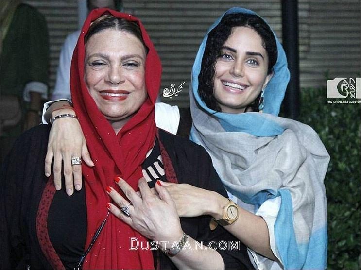 www.dustaan.com چهره خندان الناز شاکردوست و گوهر خیراندیش در مراسم اکران یک فیلم