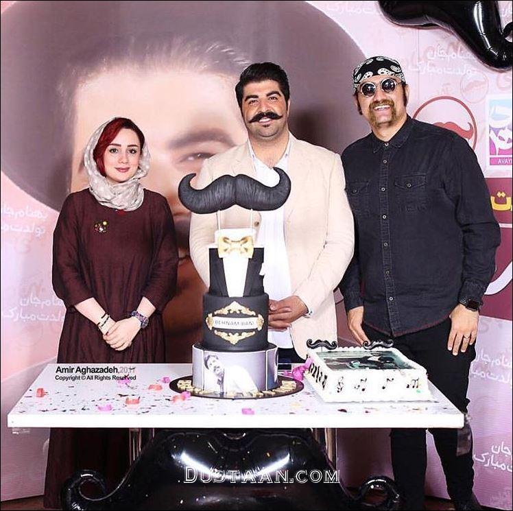 www.dustaan.com عکس های دیدنی از تولد ٣٠سالگى بهنام بانى و کیک تولد متفاوتش