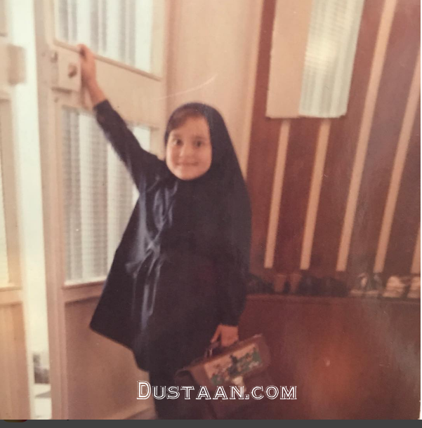 www.dustaan.com چهره با نمک آرام جعفری در اولین روز مدرسه +عکس
