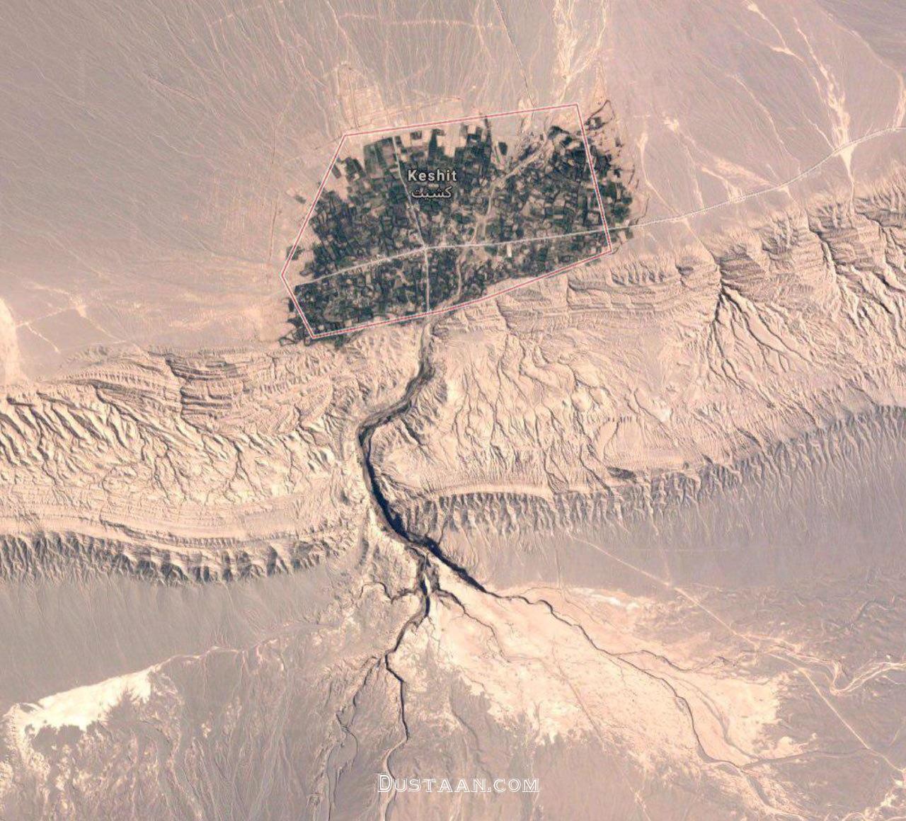 www.dustaan.com تصویر ماهواره ای جالب از یک روستای ایرانی! +عکس