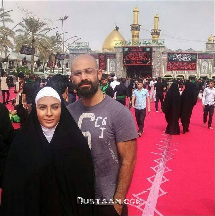 Image result for حدیثه تهرانی و همسرش در کربلا