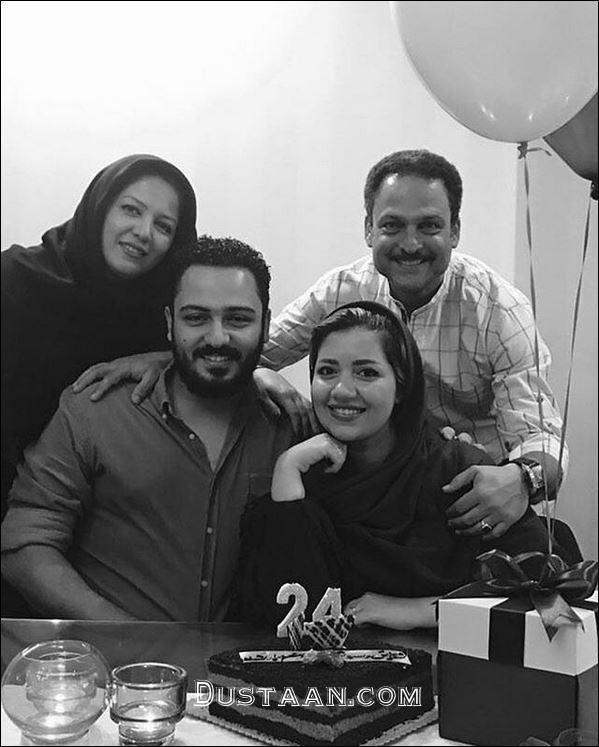 www.dustaan.com تصویری زیبا از حسین یاری در کنار خانواده اش