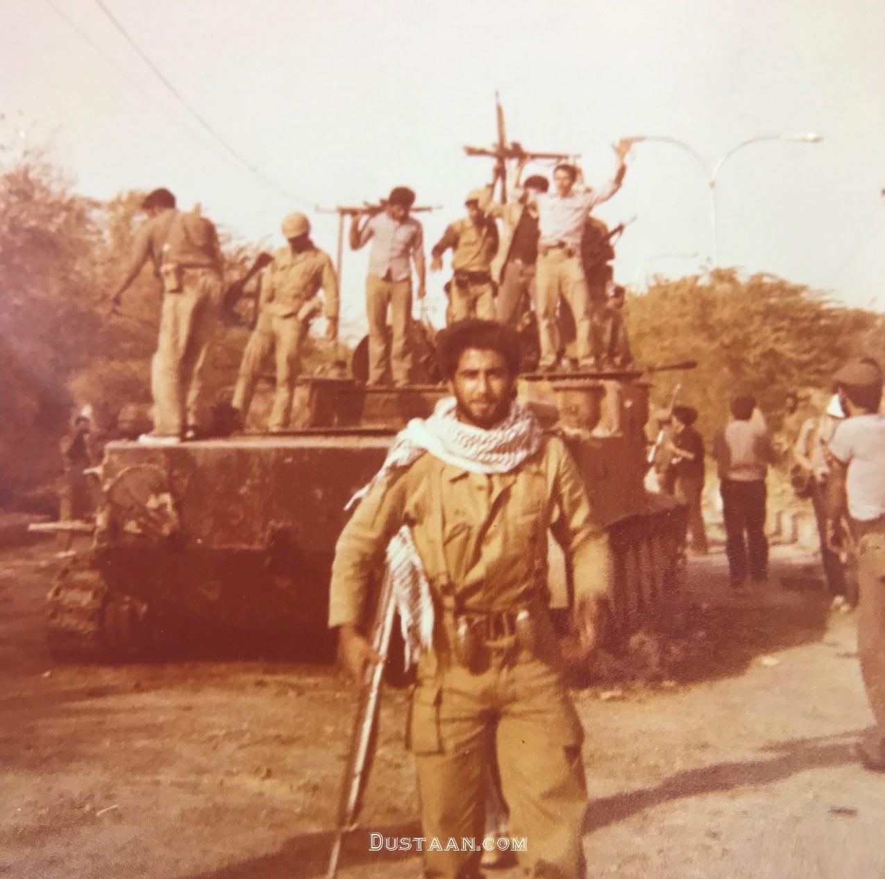 www.dustaan.com عکس دیدنی حمید معصومی نژاد در جبهه!