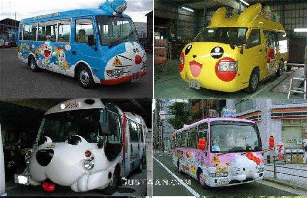 www.dustaan.com سرویس مدرسه در ژاپن! +عکس