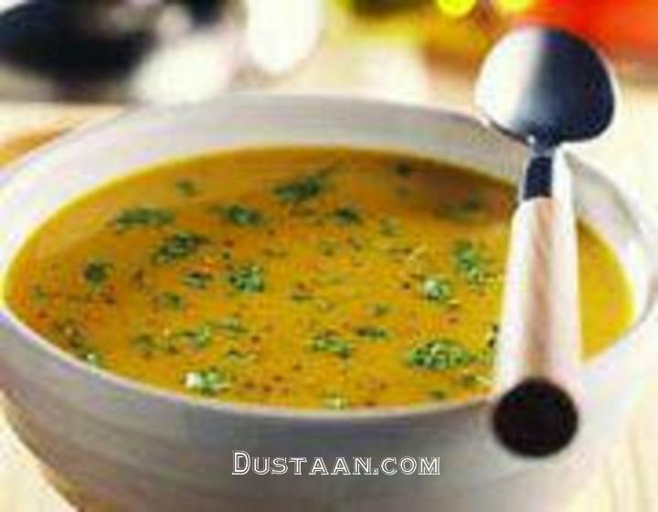 www.dustaan.com طرز تهیه سوپ پاستا و سبزیجات به سبکی بسیار خوشمزه