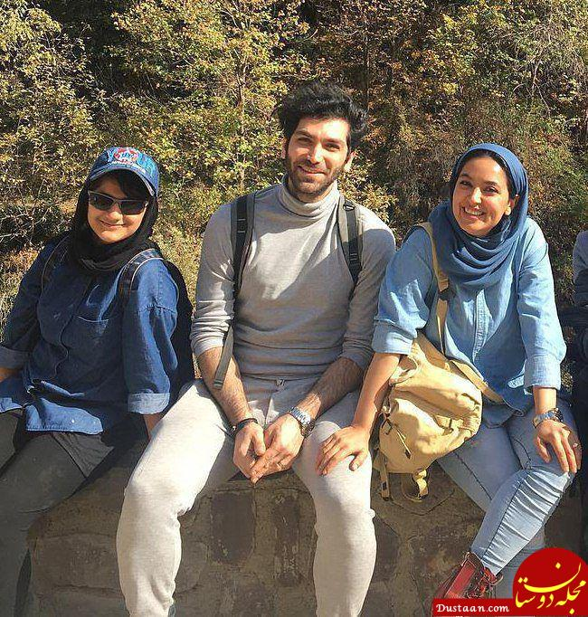 فریبا طالبی و همسرش امیر صد هزاری