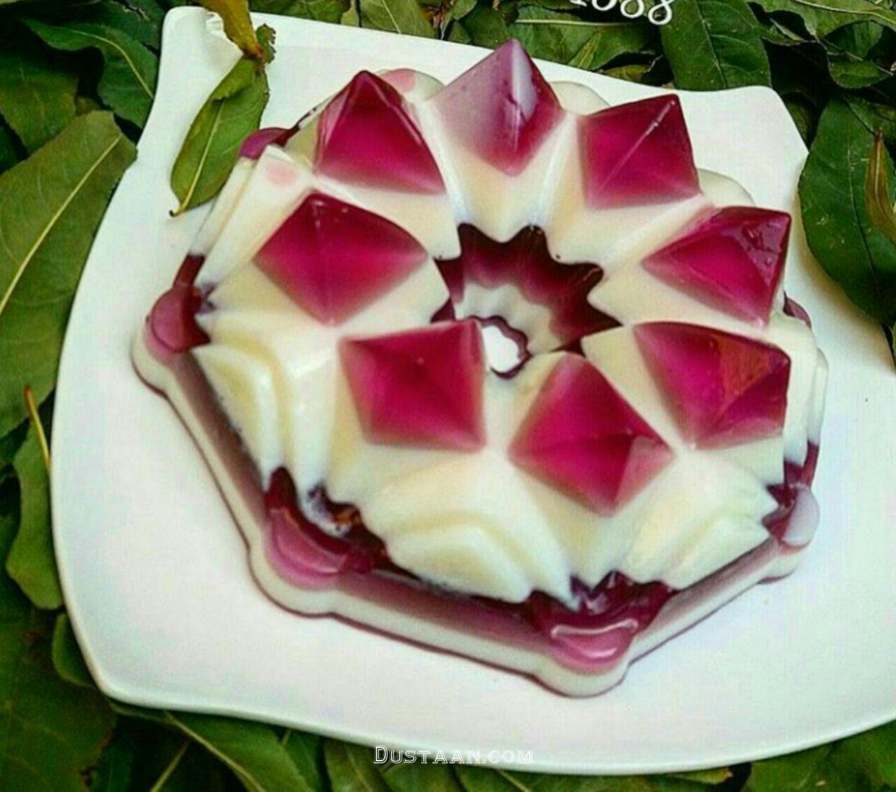 www.dustaan.com طرز تهیه ژله بستنی به سبکی خوشمزه