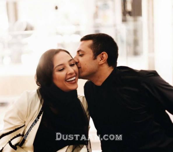 عکسی عاشقانه از اشکان خطیبی و همسرش آناهیتا درگاهی