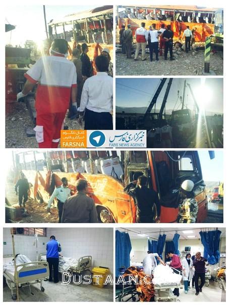 www.dustaan.com واژگونی اتوبوس دانش آموزان دختر هرمزگانی +عکس