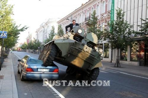 www.dustaan.com تصویری عجیب از شهردار پایتخت لیتوانی!