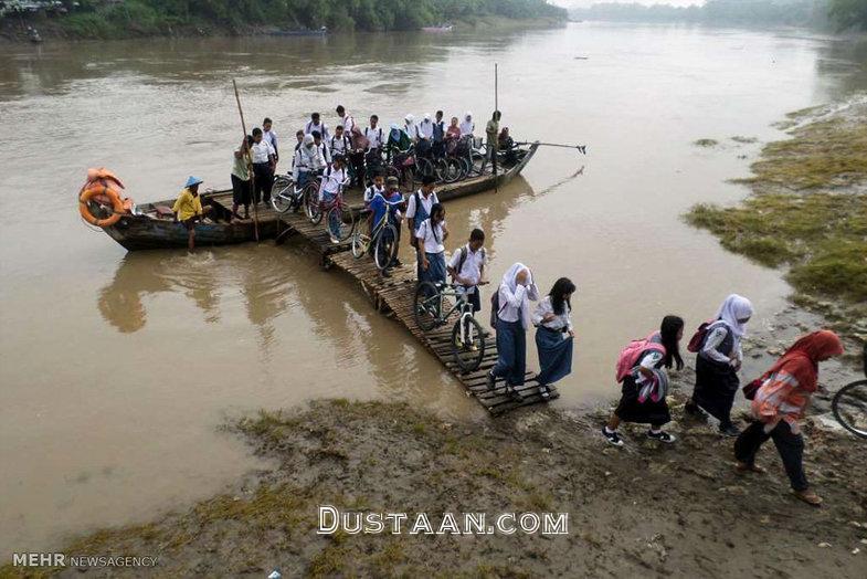 www.dustaan.com دشواری های دانش آموزان برای رفتن به مدرسه +تصاویر