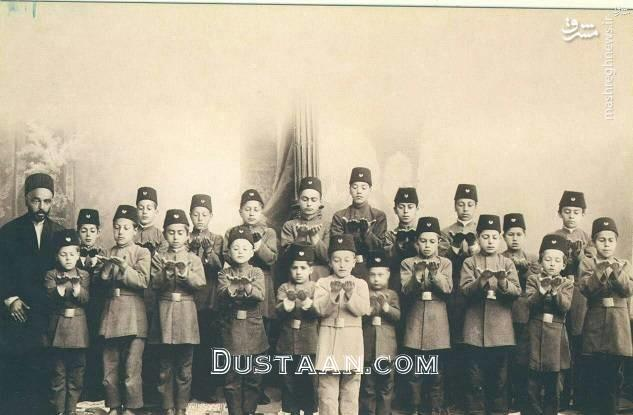 www.dustaan.com آموزش نماز در مدارس دوره قاجار +عکس