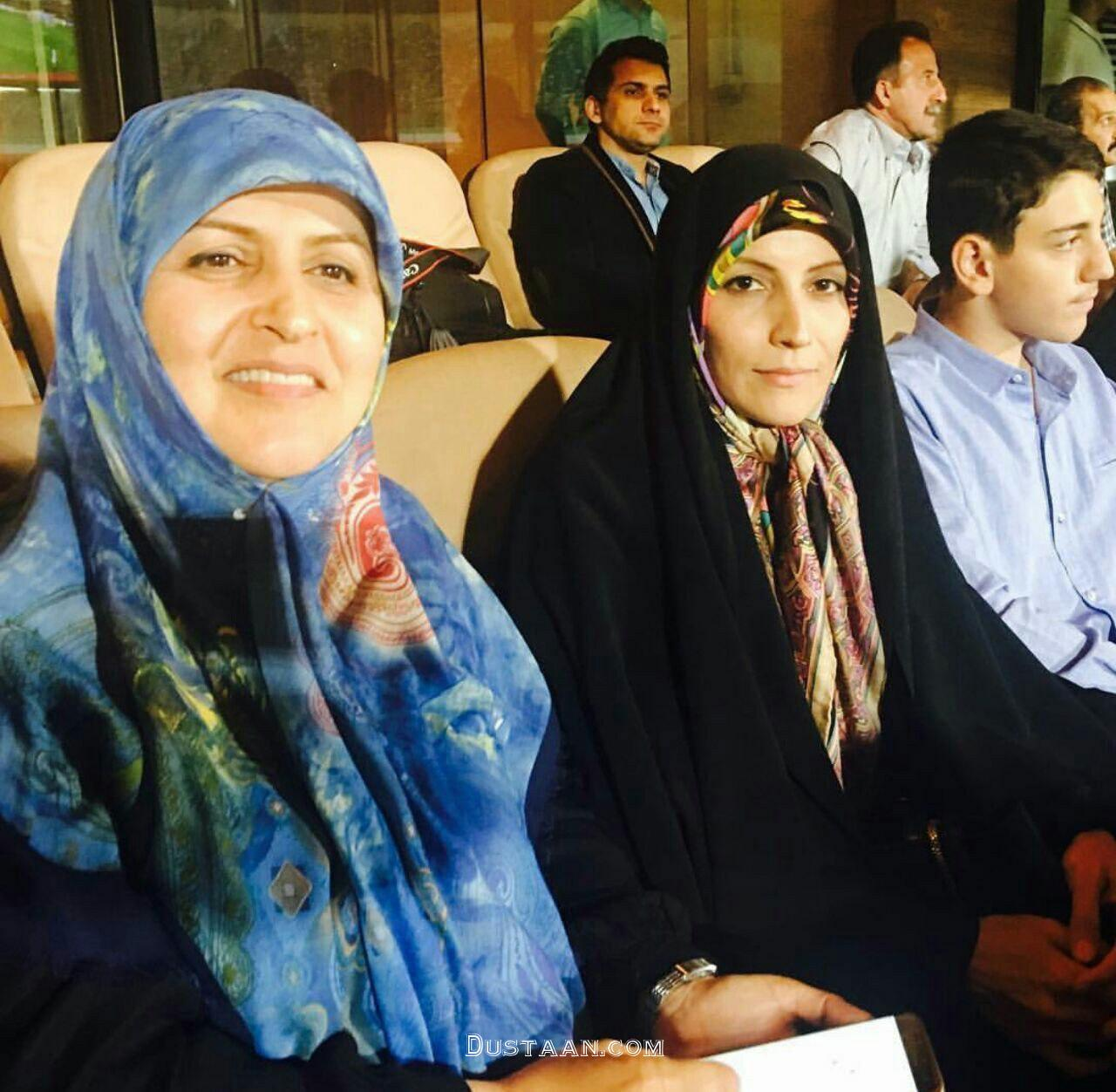 www.dustaan.com حضور طیبه سیاوشی در ورزشگاه آزادی برای تماشای بازی ایران سوریه