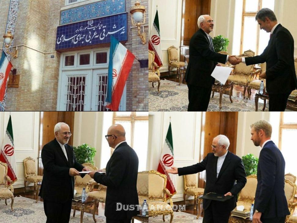 www.dustaan.com عکس: دیدار سفیران سوئیس، نروژ و یونان با دکتر ظریف