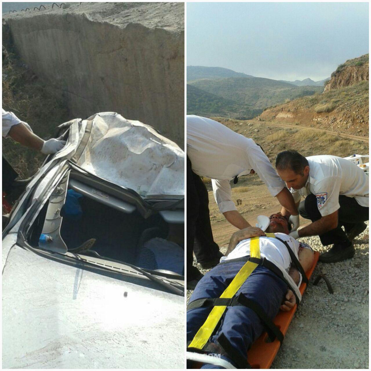 www.dustaan.com سقوط مرگبار سواری تیبا به دره ای در مازندران +عکس