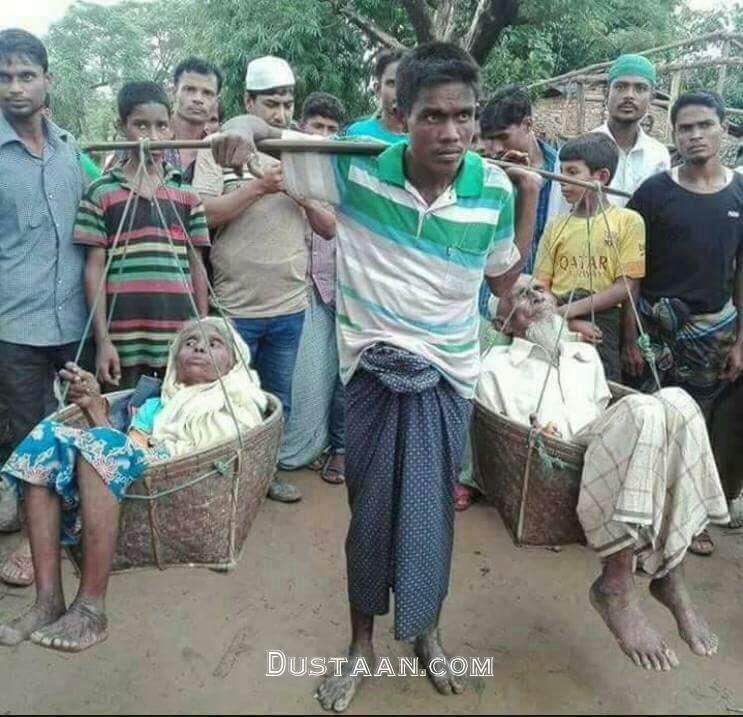 www.dustaan.com اقدام تحسین برانگیز جوان میانماری +عکس