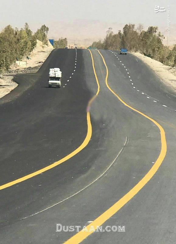 www.dustaan.com عجیب ترین خط کشی جاده ای جهان در ایران! +عکس