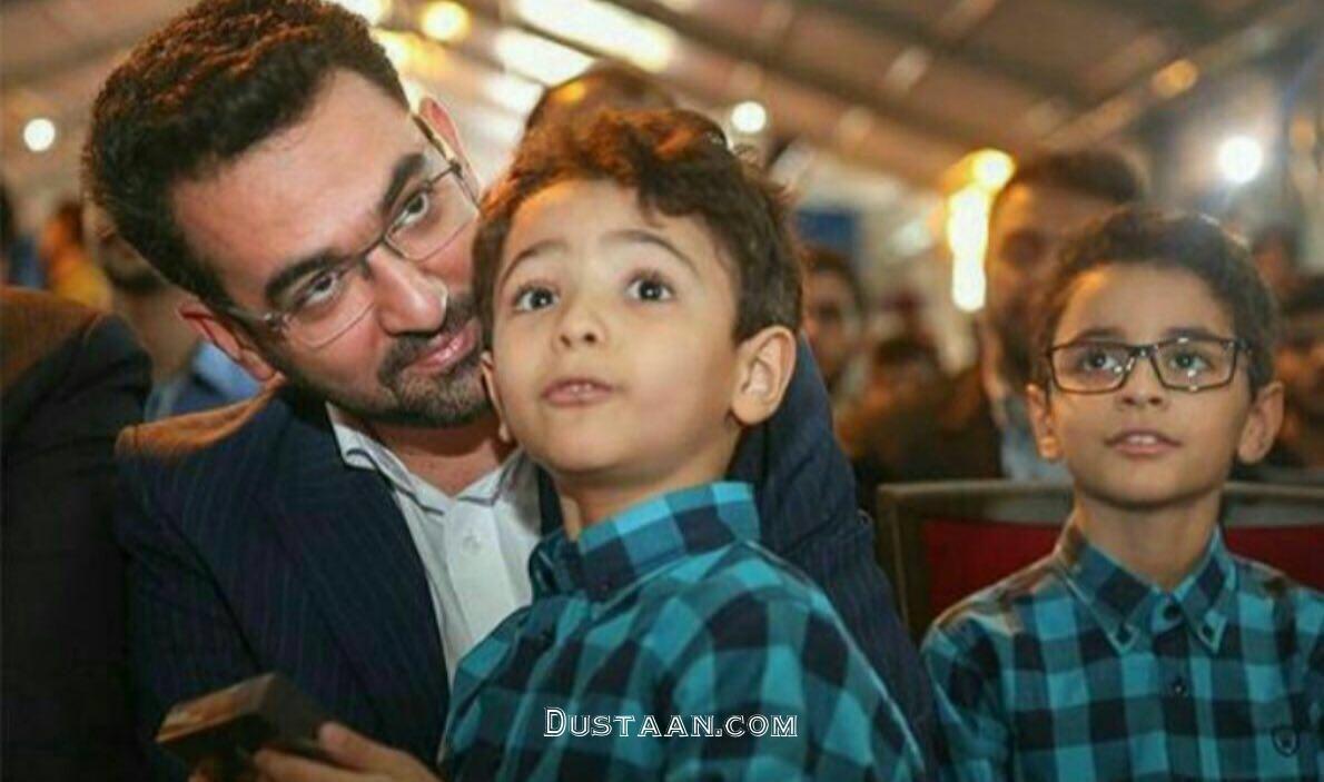 www.dustaan.com محمدجواد آذری جهرمی در کنار دو پسر خردسالش +عکس