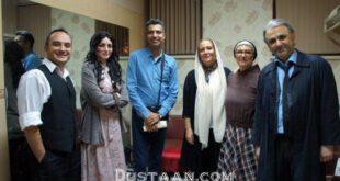 عادل فردوسی پور در کنار بازیگران «آینه های روبرو» +عکس