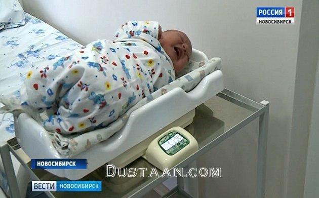 www.dustaan.com تولد نوزاد 6 کیلویی در روسیه! +تصویر