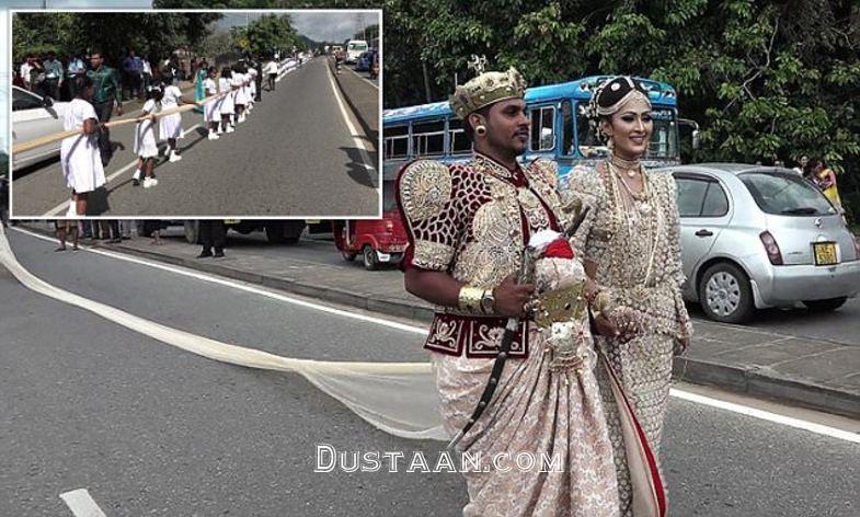 www.dustaan.com 250 ساقدوش برای گرفتن لباس عروس خانم! +تصاویر