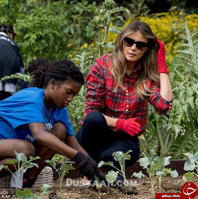 مجله اینترنتی جهانی ها تیپ لاکچری ملانیا ترامپ هنگام باغبانی + تصاویر - مجله ...