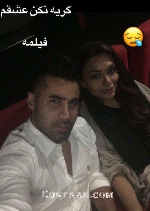 www.dustaan.com سلفی جالب محسن فروزان و همسرش در سینما +عکس