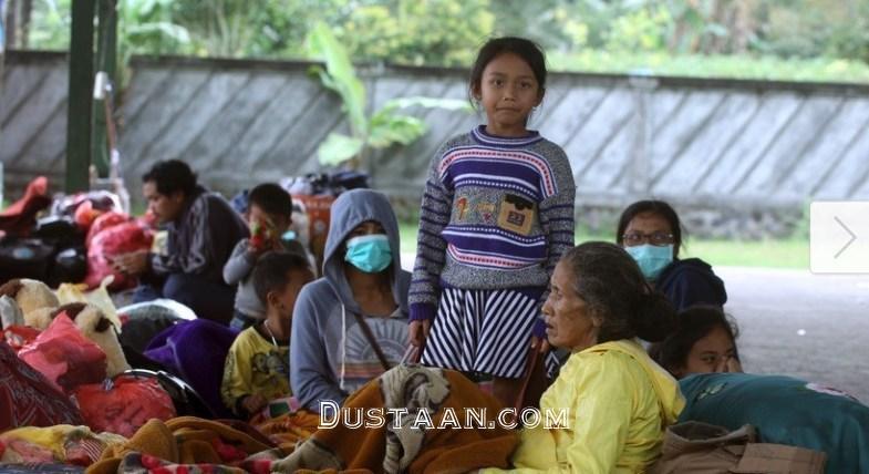 www.dustaan.com آوارگی هزاران نفر با فعالیت آتشفشان اندونزی +عکس