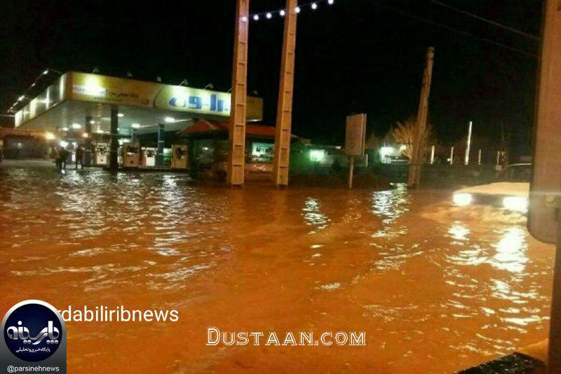 www.dustaan.com وقوع سیل ویرانگر در مشگین شهر اردبیل +عکس