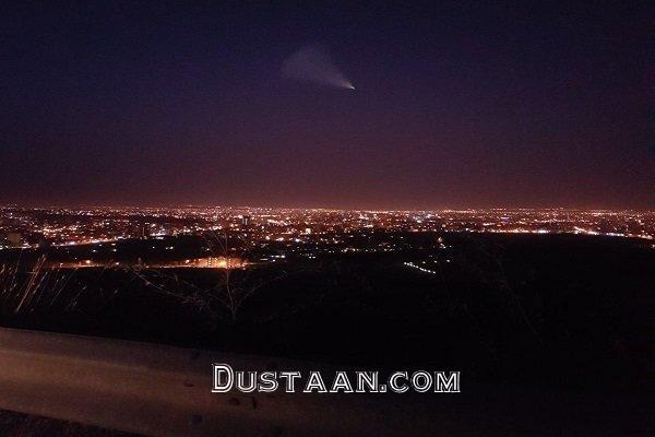 www.dustaan.com مشاهده شئ نورانی در آسمان ارومیه +عکس