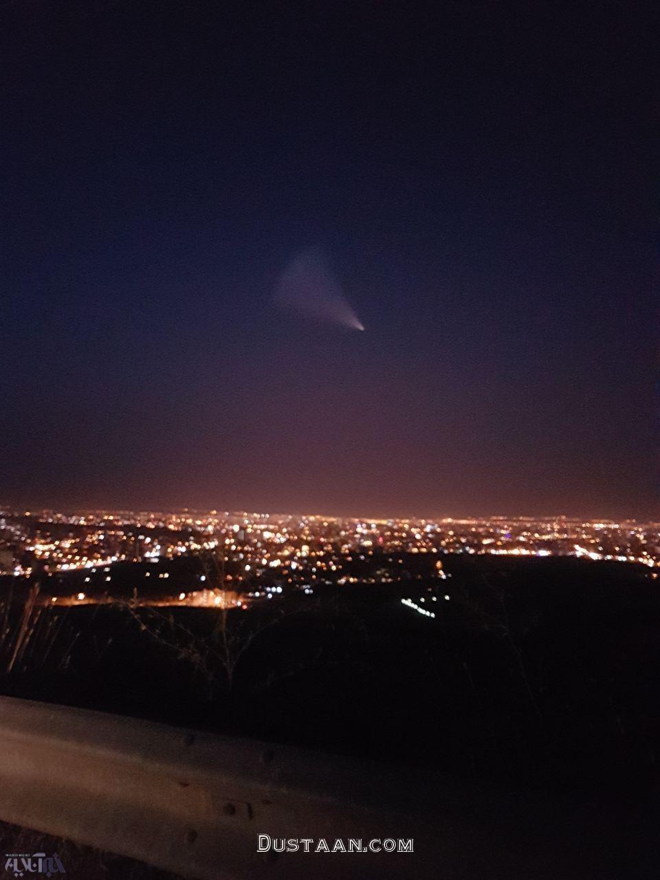 www.dustaan.com ماجرای مشاهده شی نورانی ناشناخته در آسمان ارومیه +تصاویر