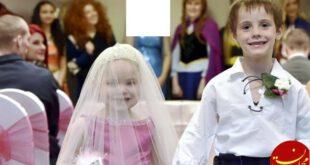 ازدواج عجیب دختربچه 5 ساله اسکاتلندی با دوست صمیمی اش! +عکس
