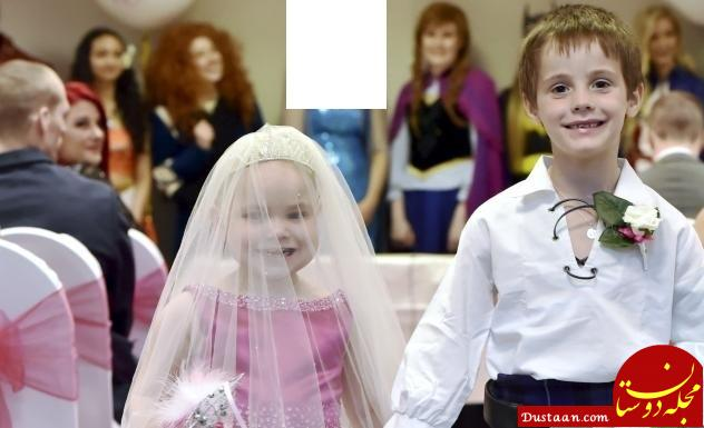 www.dustaan.com ازدواج عجیب دختربچه 5 ساله اسکاتلندی با دوست صمیمی اش! +عکس