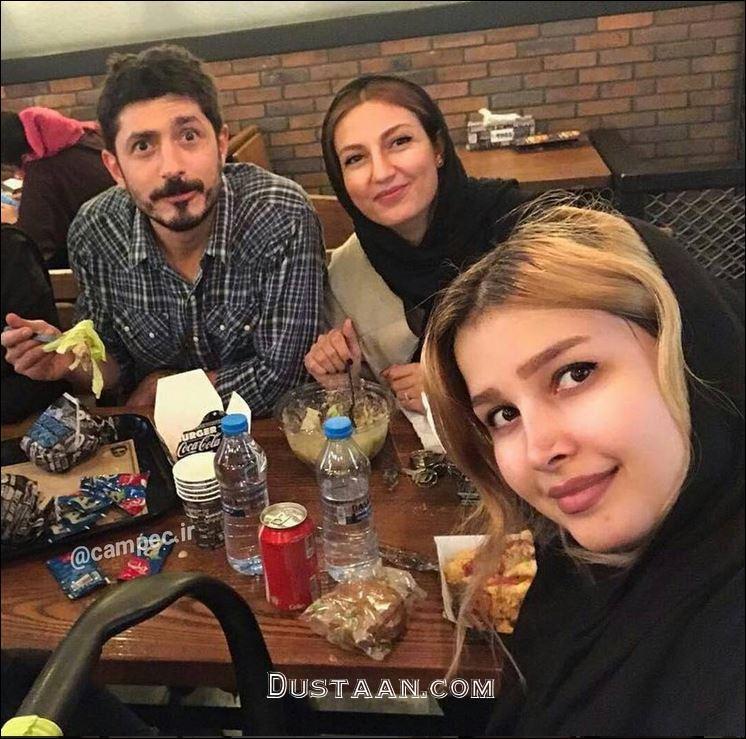 www.dustaan.com حدیث میرامینی و همسرش مجتبی رجبی +عکس