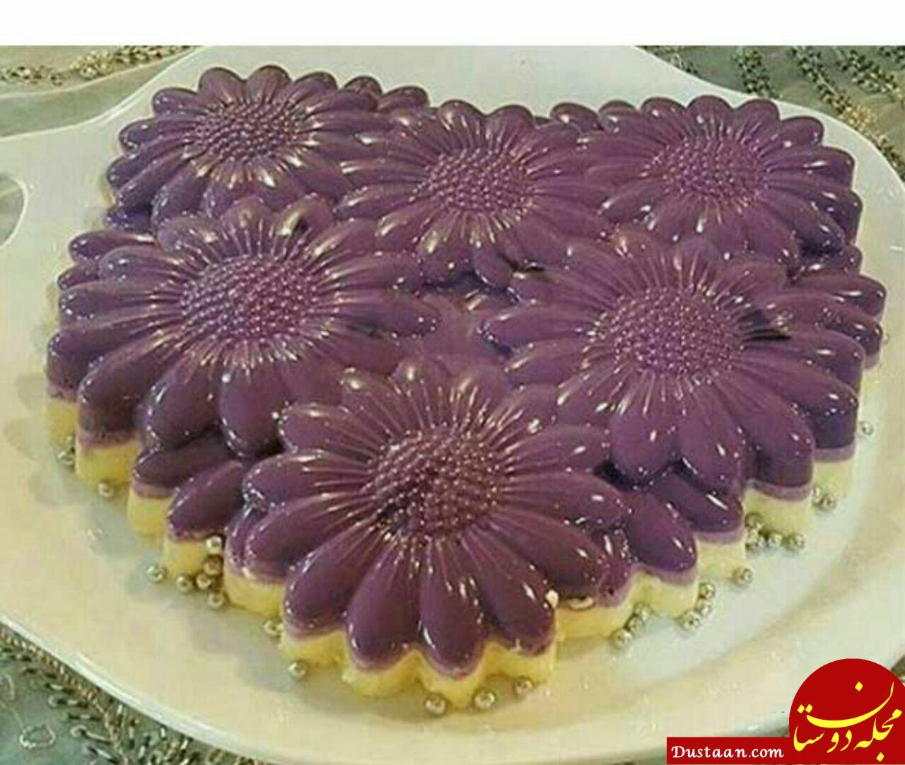 www.dustaan.com طرز تهیه دسر باواریا به سبکی خوشمزه