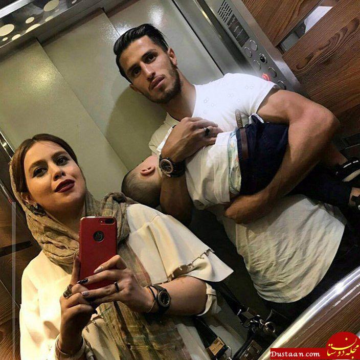 www.dustaan.com سلفی دیدنی علی علیپور با همسر و پسرش